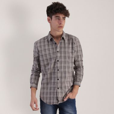 CAMISA-MODA-CUADROS-CAFE-STRETCH-RED