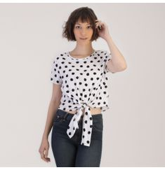 CROP-TOP-BLANCO-CON-PUNTOS-NEGROS