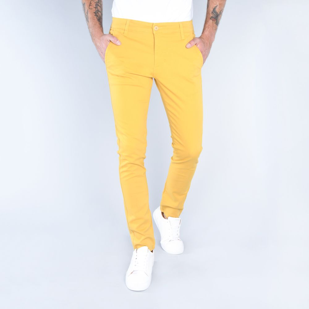 Compra Pantalones Chinos Gabardina Stretch Amarillo I Hombre 121357 Oggi