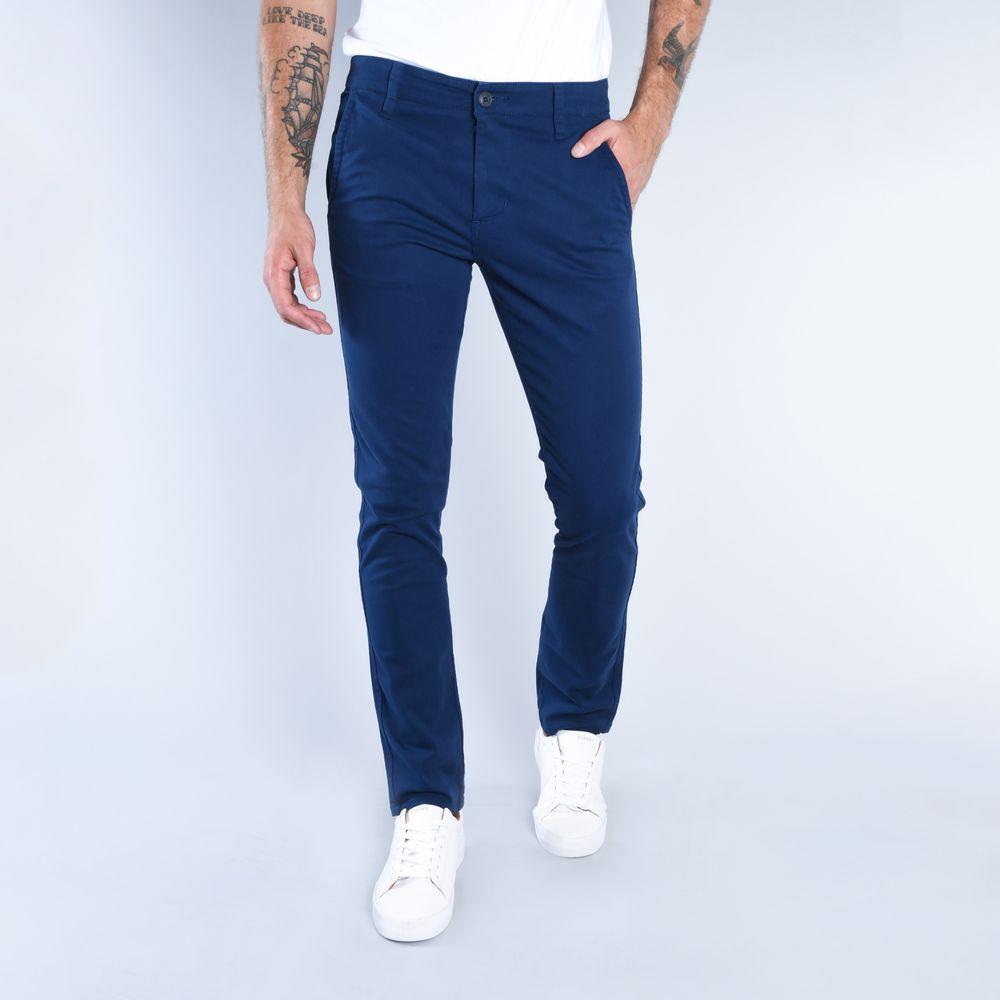 Compra Pantalones Chinos Gabardina Stretch Azul Marino I Hombre 121465 Oggi
